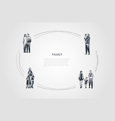 family - couple hugging each other vector image