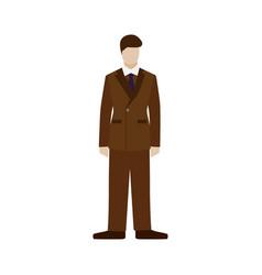 Fashioned retro gentleman english dandy british vector