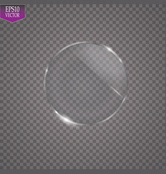fflat round glass magnifier isolated on a vector image