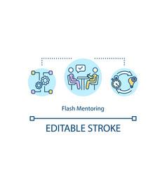 Flash mentoring concept icon vector