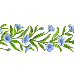 flax plant pattern on white background vector image