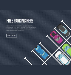 free parking here poster in flat style vector image vector image