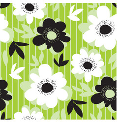 fresh green flower modern seamless pattern vector image