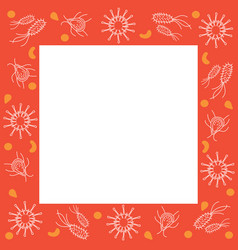Germs decoration on frame vector