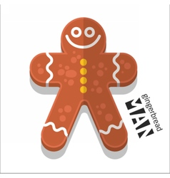 Gingerbread man icon vector image vector image
