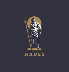 God hades or pluto emblem vector