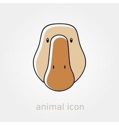 Goose icon Farm animal vector image