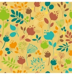 Graceful Summer Flowers Yellow Seamless Pattern vector
