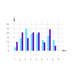 Graph element isolated infographics vector