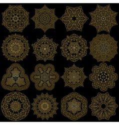 Hand-drawn christmas lace frame mandala vector image