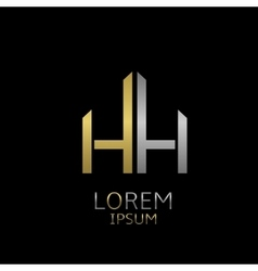 Hh letters logo vector
