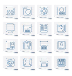 Hi-tech and technology equipment icons vector