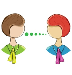 icon of two women communicating on a white vector image vector image