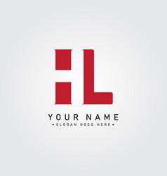 initial letter hl logo - simple business logo vector image