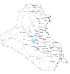 Iraq Black White Map vector