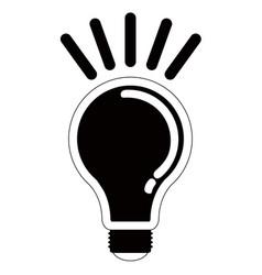 isolated lightbulb silhouette vector image