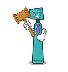 Judge otoscope mascot cartoon style vector