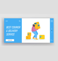 loader bringing packing in post office warehouse vector image