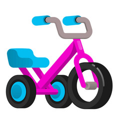 Metal tricycle icon cartoon style vector