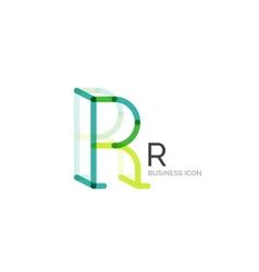 Minimal R font or letter logo design vector image