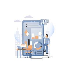 mobile website development services concept vector image