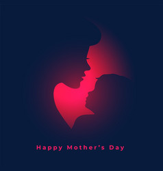 Mom and balove relation mothers day concept vector
