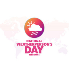 National weatherpersons day february 5 holiday vector
