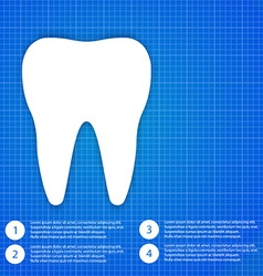 One white tooth vector image