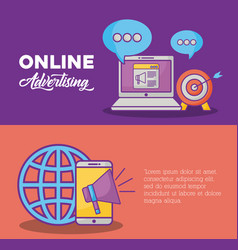 online marketing design vector image