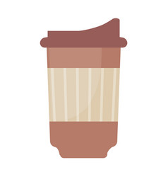 Paper cup coffee disposable vector