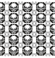 pattern with skulls hand drawingshirt designs vector image