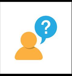 Pictograph faq question vector