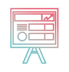 presentation board icon vector image