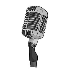 Retro style classic microphone with the word on vector