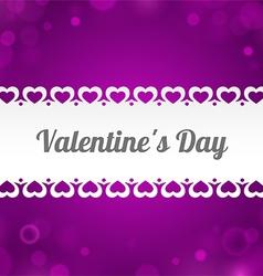 Ribbon Valentines Day vector
