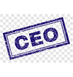 Scratched ceo rectangle stamp vector
