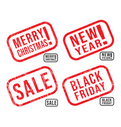 set new year christmas black friday and vector image