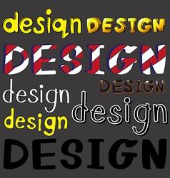 Set of design artworks vector