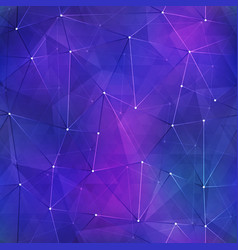 Space triangle pattern vector