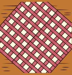 table with checkered tablecloth image vector image