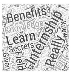 The Benefits Of Getting An Internship Word Cloud vector