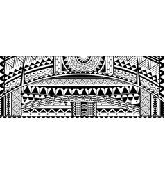 Tribal tattoo sleeve ornament vector