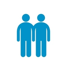 Two male flat icon vector