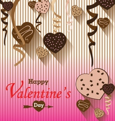 Valentines Day and Heart chocolate Party on vector