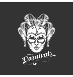 Venetian carnival mask emblem vector