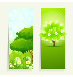 Vertical Nature banners vector