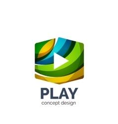 Video play logo template vector
