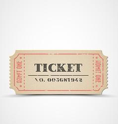Vintage ticket vector