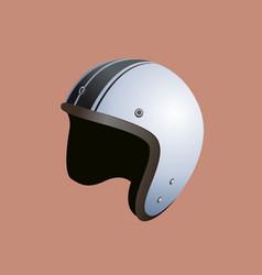 White motorbike helmet vector