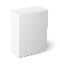 White vertical paper box template vector image